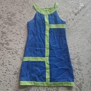 Florence Eiseman Mod Print Linen Dress Sz12